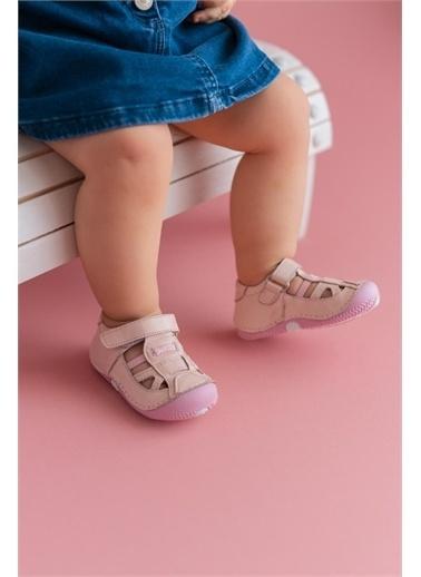 First Step Hakiki Deri İlk Adım Ayakkabısı -D-462 Pudra